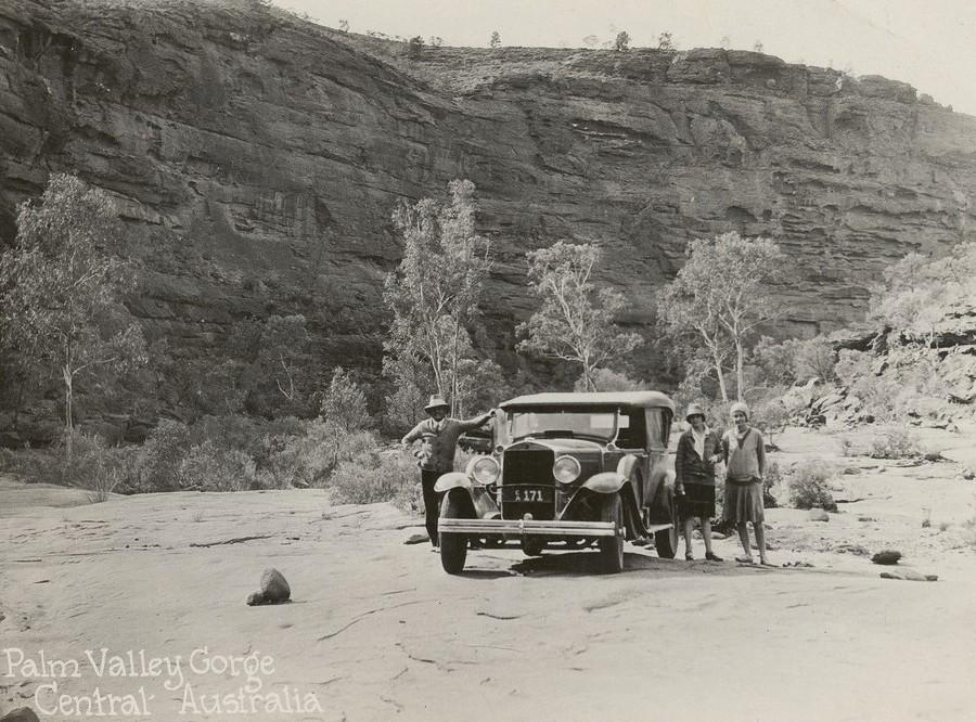 ca-171-Palm Valley Gorge Central Australia with touring car CA171 and three tourists pictured.jpg